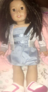 American girl doll,  clothes & bed