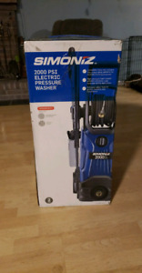 Unopened 2000psi electric pressure washer