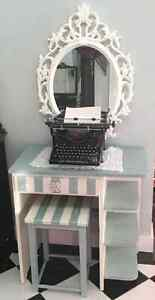 Perfect little vanity, entrance table or desk.