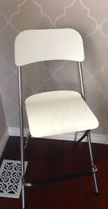 IKEA Franklin Bar Stool with Backeest - White