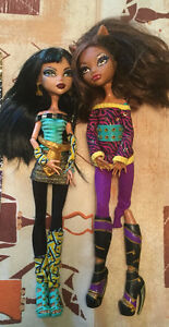 MONSTER HIGH SCHOOL'S OUT CLEO AND CLAWDEEN