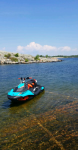 2018 seadoo trixx 3 seater with trailer