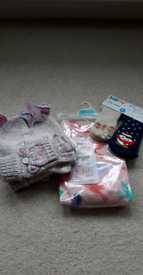 New M&S PJs age4-5, Christmas Slipper socks age 2-4 and age 4 hat set
