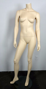Mannequin female on clear stand