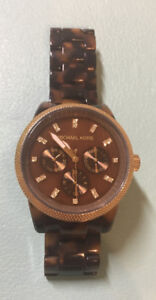 MICHAEL KORS Women's Tortoise Shell Watch with original box