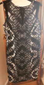 Black and Cream Autograph Dress