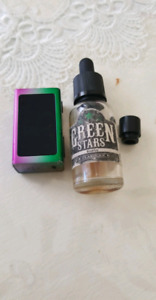 Juice and mouthpiece and box
