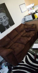 Suede Brown Couch