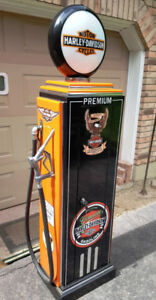 KUSTOM Harley Davidso, VINTAGE GAS PUMP  LOCKING STORAGE CABINET