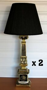 2 - Beautiful Lamps with Black Shades