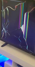 50 inch smart TV broken lcd screen parts spare repairs