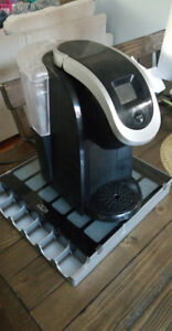 Keurig Coffee maker with pods tray $40