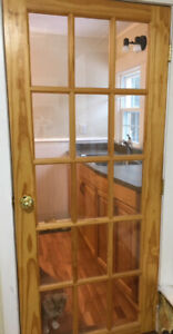 NATURAL WOOD FRENCH DOOR....