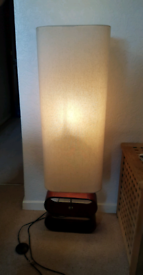 Tall Free Standing Lamp - Dark Wood