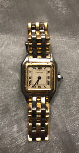 Vintage Cartier Panthere lady watch-18K Gold & Steel-Small model