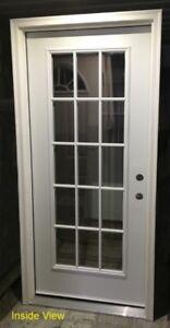 """Flush Entry Door (36"""" x 80"""") with Full Frame and Full Doorlite"""