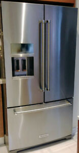 Kitchen Aid 27 cubic ft Fridge with Bottom Drawer Freezer