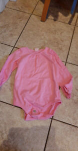 Girls long sleeve onesie- pink- 24mth