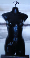 Excellent Condition: Black Hanging Female Bust Form