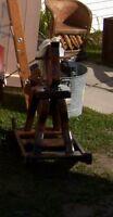 solid wooden horse rocker