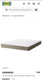 Brand new sealed IKEA HAMARVIK King size mattress (Firm)