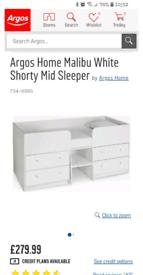 Reduced!, Malibu single bed Midsleeper (shorty)
