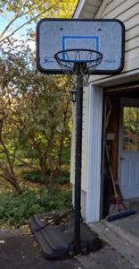 Adjustable freestanding basketball  hoop for driveway