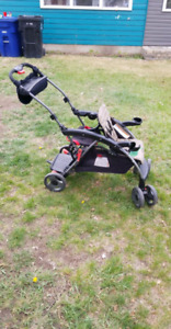 Sit and stand double stroller great condition