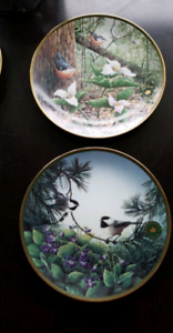 "Porcelain plates  ""Flowers of the Canadian Provinces"" Collection"