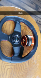 NRG racing steering wheel anf quick release