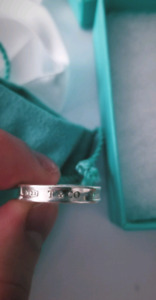 TIFFANY 1837 SILVER RING SZ. 7.5