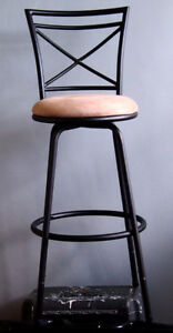 Beautiful, Bar Stool! New, adjustable, swivel base.