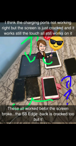 Two tablets and a cell phone