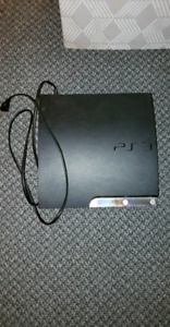 PS3 WITH 18 GAMES, NO CONTROLLER!