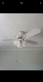 Ceiling fan light in excellent condition and working order.
