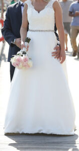 Beautiful White wedding Dress, almost brand new
