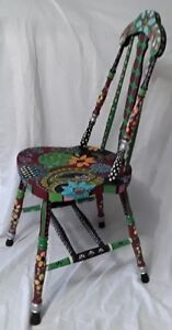 Chair. Handpainted. Whimsical. Conversation piece.