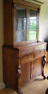 antique estate walnut secretary writing desk