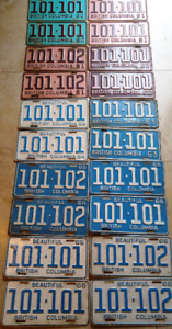 **Classic Car ? Vintage LICENSE PLATES **