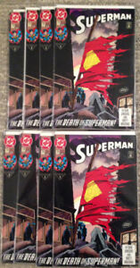 8 Copies of Superman #75 - The Death of Superman