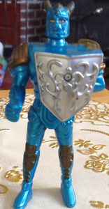"RARE 1999 MCDONALDS SABAN BLUE KNIGHT 4"" ACTION FIGURE TOY"