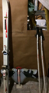 Skis, Poles, Boots, & Boot Holder