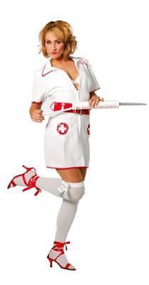 Krankenschwester Arzt Kostüme (Krankenschwester Kostüm Kleid Nurse Damen Kittel Arzt Krankenhaus OP Schwester)