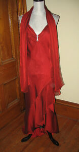 size 12 evening dress with shawl