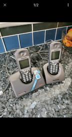 Panasonic cordless phone system.., 2 handsets..
