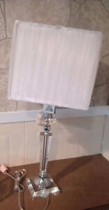 Brand New Never Used Perfect Condition - Set of two Glass Lamps