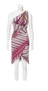 NEW Roberto Cavalli one-shoulder midi dress, Size: S, US: 4