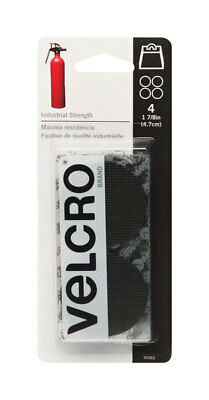 (Velcro  Industrial Strength  Hook and Loop Fastener  1-7/8 in. W Black  4 pk)