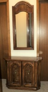 Hallway or Entrance Mirror and Cabinet