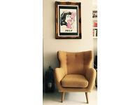 HEALS Armchair - HUGE Oversized - Mid Century Danish Retro Vintage Eames Style
